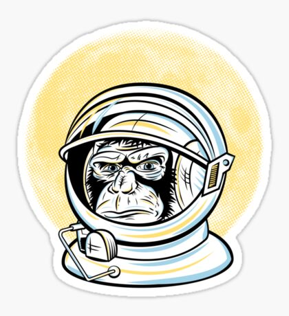 Space Monkey Sticker