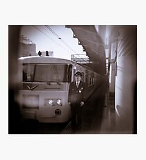 My train driver friend AT Ueno station Photographic Print