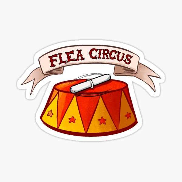 Flea Circus Sticker