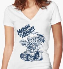 Machine of Madness Women's Fitted V-Neck T-Shirt