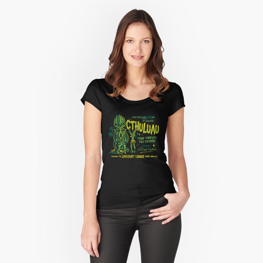 Cthuluau Tailliertes Rundhals-Shirt für Frauen Vorne