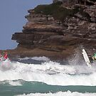 Kelly Slater & Jordy Smith Synchronised Airs  by Mick Duck