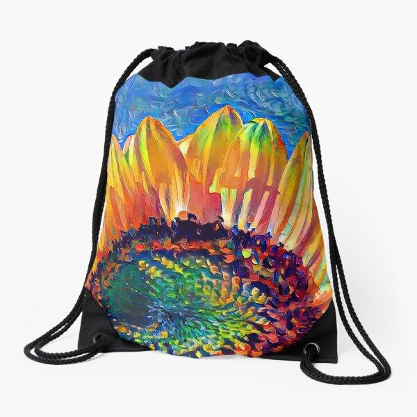 Solar eyelashes Drawstring Bag