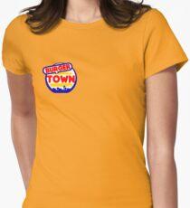 Burger Town Women's Fitted T-Shirt