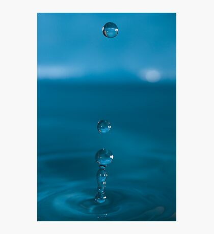 Blue In Threes Photographic Print