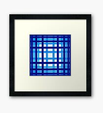 bath towel, quadrate, blue to white Framed Print