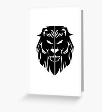 House Lannister Sigil Greeting Card