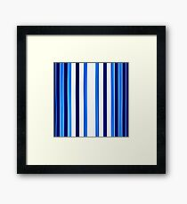 bath towel, straps, blue to white Framed Print