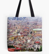 Vista of Napoli toward hills Tote Bag