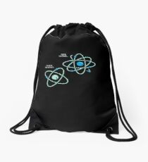 Negative Atom Drawstring Bag