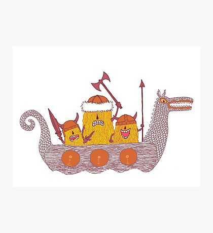 Viking Party Animals in a  Dragon Boat Photographic Print