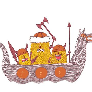 Viking Party Animals in a  Dragon Boat by SusanSanford