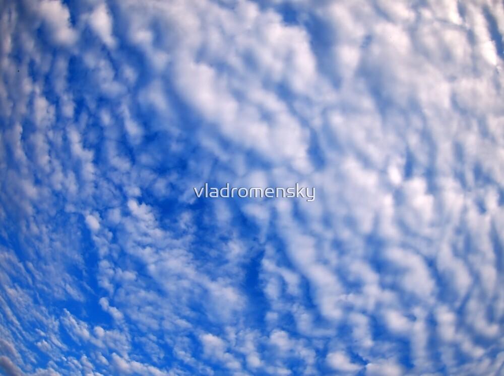 Dense clouds on a bright blue sky by vladromensky