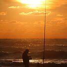 Fishing at Sunset  by Samantha Higgs