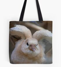 Look Mum..I Can Make Angel Wings!! - Juvenile Dove - NZ Tote Bag