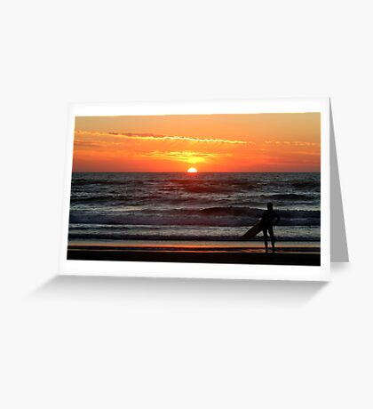 Watching The Sun Go Down. Greeting Card