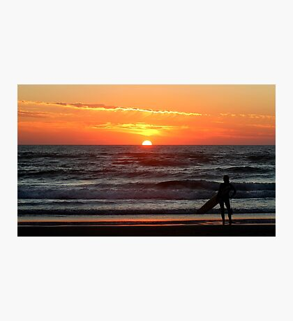 Watching The Sun Go Down. Photographic Print