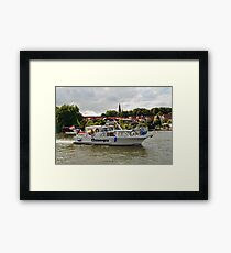 MVP103 Boating through Malchow, Germany. Framed Print