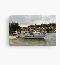MVP103 Boating through Malchow, Germany. Canvas Print