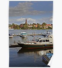 MVP105 Malchow Harbour, Germany. Poster