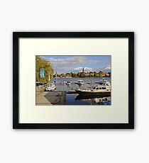 MVP106 Malchow Harbour, Germany. Framed Print