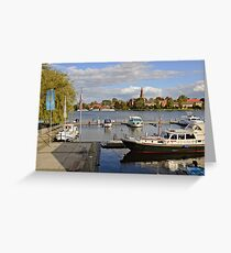 MVP106 Malchow Harbour, Germany. Greeting Card
