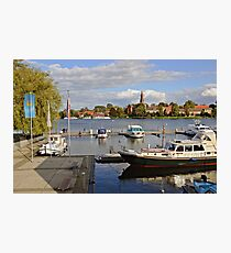 MVP106 Malchow Harbour, Germany. Photographic Print