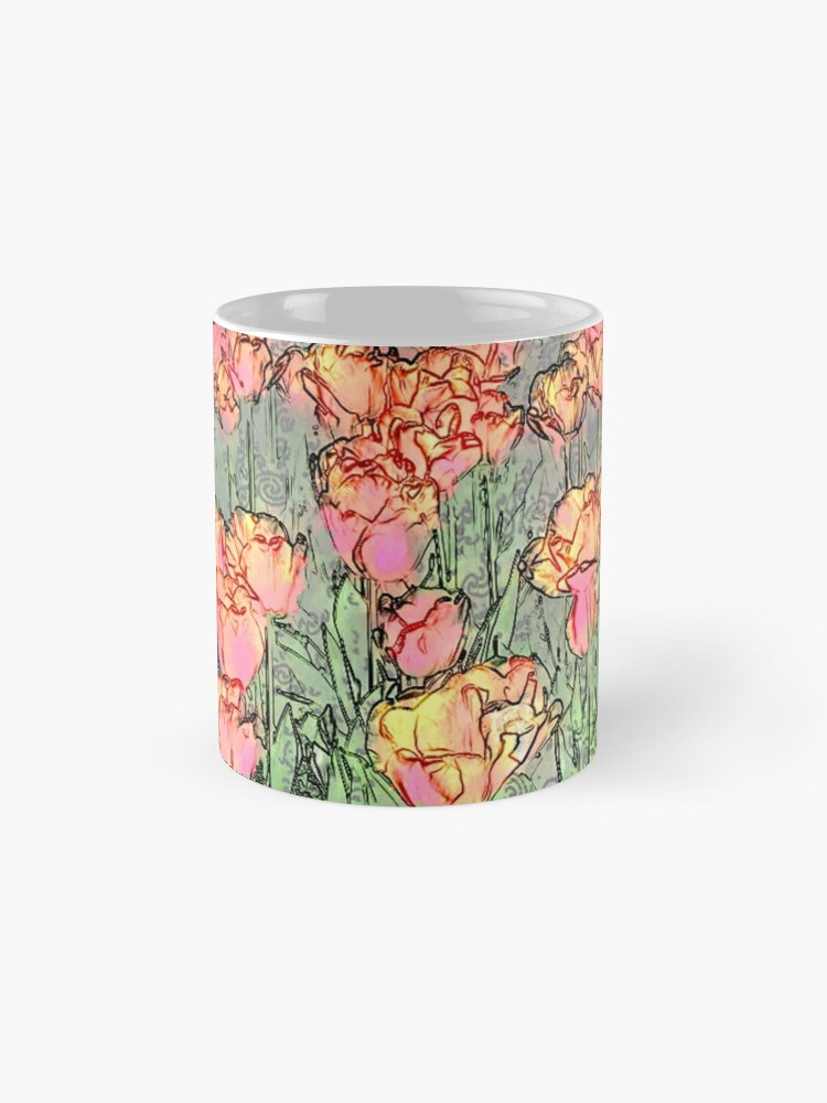 Alternate view of Pastel Tulips Mug