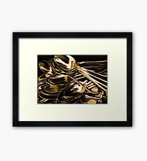 Golden Spoon Framed Print