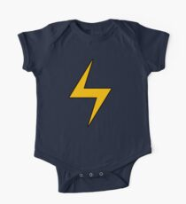 Lightning Bolt Logo Emblem Short Sleeve Baby One-Piece