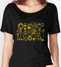 Children yellow graphic design Women's Relaxed Fit T-Shirt