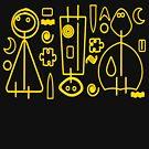 Children yellow graphic design by MaluC