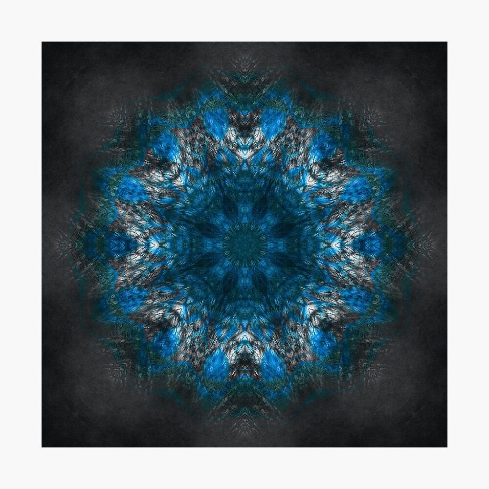 King of Water mandala Photographic Print