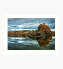 Storm Clouds Over Watson Lake Art Print