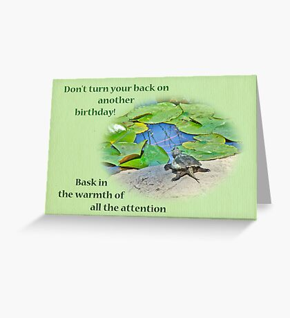 Birthday Card - Baby Snapping Turtle Greeting Card