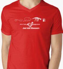 Just Add Dinosaurs Mens V-Neck T-Shirt