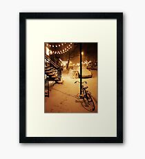 Winter Blizzard - New York City Framed Print