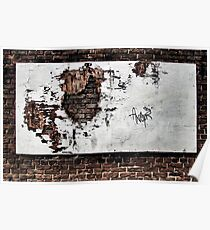 forlorn & torn...(Wall and forgotten billboard, The Beach, Toronto, Ontario, Canada) Poster
