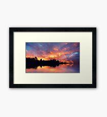 Rainbow in the sunset Framed Print
