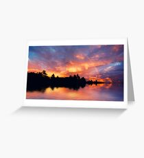 Rainbow in the sunset Greeting Card