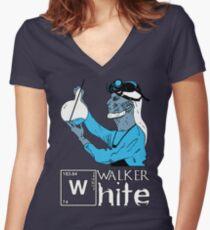 Walker White Women's Fitted V-Neck T-Shirt