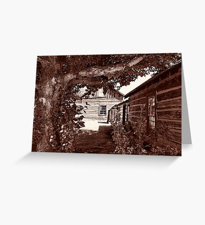 Nevada City Sepia 2 (Montana, USA) Greeting Card