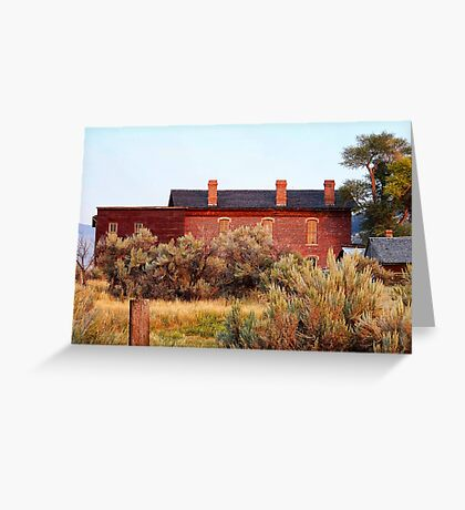 Hotel Meade 1 (Bannack, Montana, USA) Greeting Card