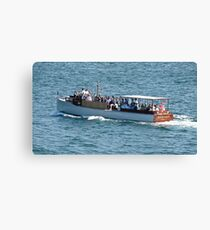 The Rum Runner Cruising Up Narragansett Bay Canvas Print