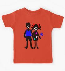 Black cat in Boots vector art Kids Clothes
