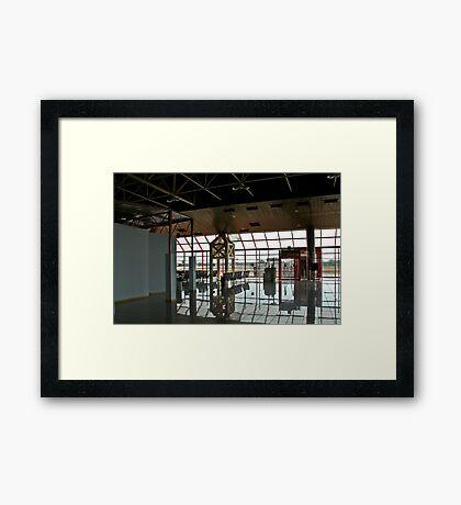 Deserted Terminal Framed Print