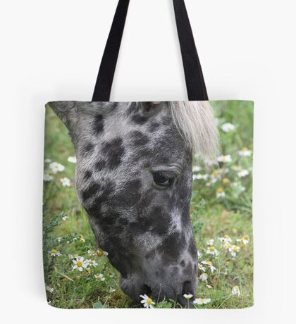 Pony In The Daisies Tote Bag