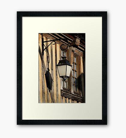 Street Light On A Medieval House - France Framed Print