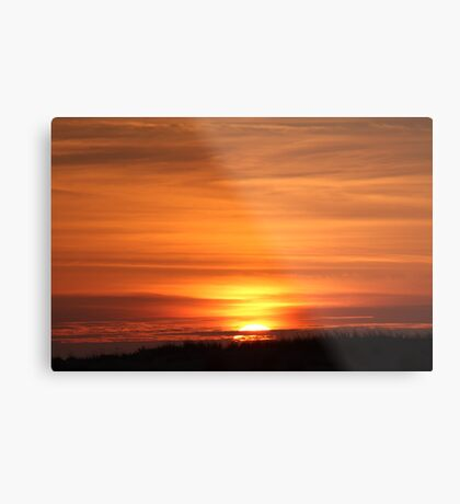Sunset Over The Dune Metal Print