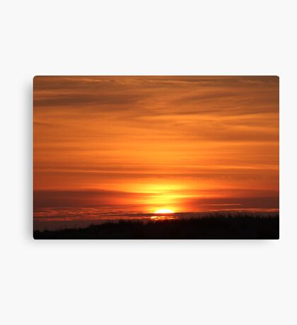 Sunset Over The Dune Canvas Print